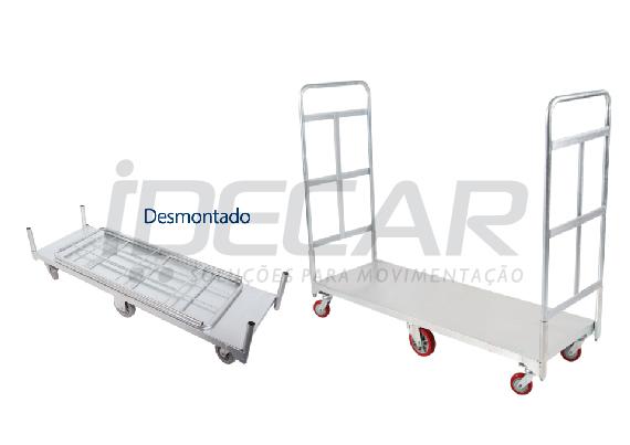 CARRINHO PLATAFORMA 6 RODAS - ID681